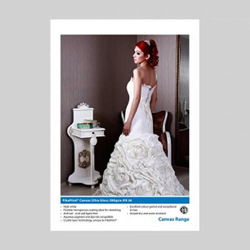 Innova FibaPrint Ultra Gloss Canvas - 380gsm - 432mm x 30mt - IFA-36-432x15 - express delivery from GDS - Graphic Design Supplies Ltd