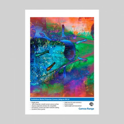 Innova Matte Polyester Canvas - 260gsm - 432mm x 30mt - IFA-52-432x30 - express delivery from GDS - Graphic Design Supplies Ltd