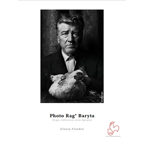 """Hahnemühle Photo Rag® Baryta Roll - 315gsm - Digital Fine Art Media Roll - 44"""" inch - 1118mm x 12mt - 10643195 - express delivery from GDS - Graphic Design Supplies Ltd"""