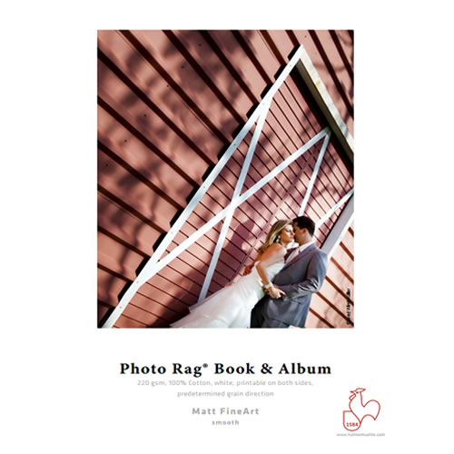 Hahnemühle Photo Rag® Book & Album 220gsm - Digital Fine Art Cotton Inkjet Paper Media - A2 x 25 sheets  - Long Grain - 10641691 - express delivery from GDS - Graphic Design Supplies Ltd