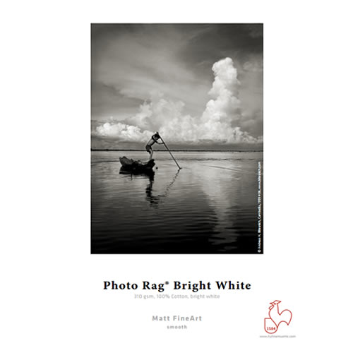 "Hahnemühle Photo Rag Bright White 310gsm - Digital Fine Art Cotton Paper Media - 24"" inch - 610mm x 12mt - 10643144 - express delivery from GDS - Graphic Design Supplies Ltd"