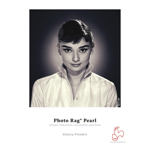 """Hahnemühle Photo Rag Pearl Roll - 320gsm - Digital Fine Art Media Roll - 17"""" inch - 432mm x 12mt - 10643463 - express delivery from GDS - Graphic Design Supplies Ltd"""