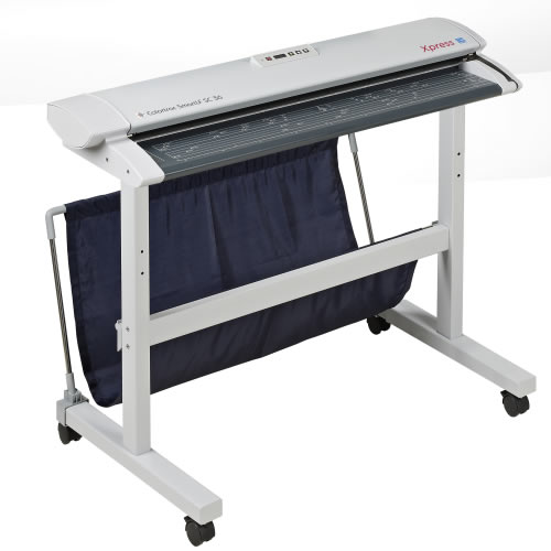 Colortrac SmartLF SC 36e A0 High Speed Express Colour Document Scanner shown on floor stand (not included)