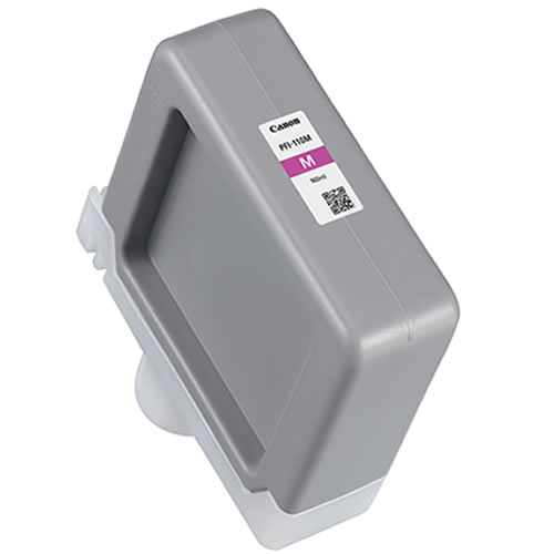 Canon PFI-110M Magenta Ink Tank - 160ml Cartridge - for Canon TX-2000, TX-3000 & TX-4000 Printer - 2366C001AA