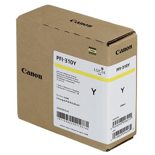 Canon PFI-310Y Yellow Ink Tank - 330ml Cartridge - for Canon TX-2000, TX-3000 & TX-4000 Printer - 2362C001AA