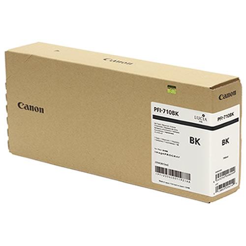 Canon PFI-710BK Black Ink Tank - 700ml Cartridge - for Canon TX-2000, TX-3000 & TX-4000 Printer - 2354C001A