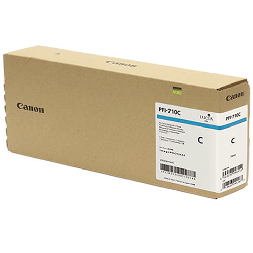 Canon PFI-710C Cyan Ink Tank - 700ml Cartridge - for Canon TX-2000, TX-3000 & TX-4000 Printer - 2355C001AA