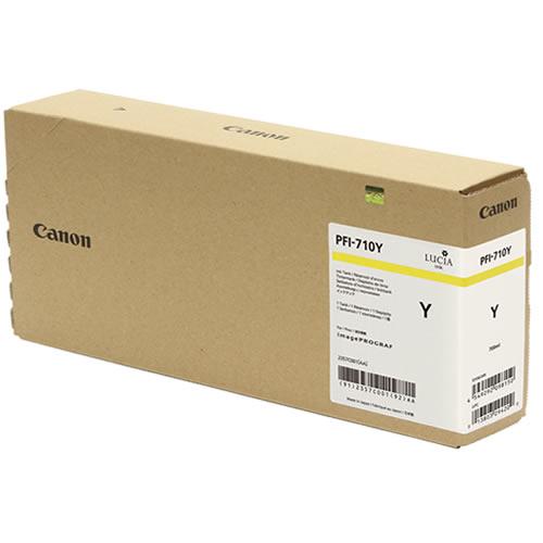 Canon PFI-710Y Yellow Ink Tank - 700ml Cartridge - for Canon TX-2000, TX-3000 & TX-4000 Printer - 2357C001AA