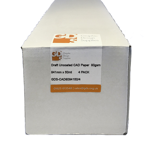 GDS Draft Inkjet CAD Paper Roll 80gsm 841mm x 50mt