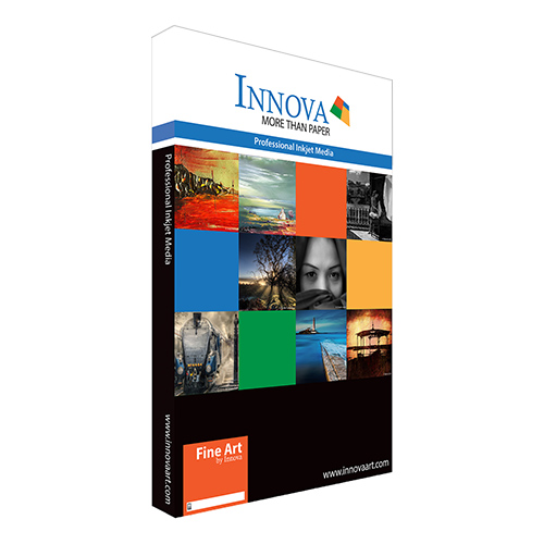 Innova Soft Textured Bright White Cotton Paper Sheets - 315gsm - A3+ x 50 sheets - IFA-26-A3+-50 - express delivery from GDS - Graphic Design Supplies Ltd