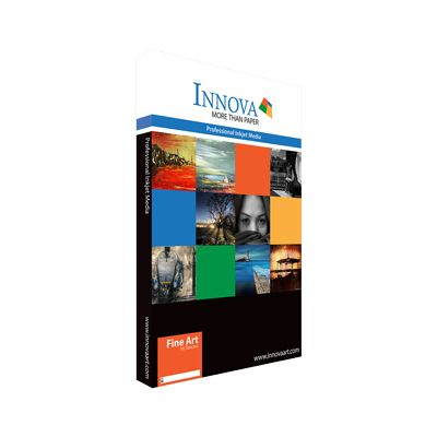 Innova Cold Press Rough Textured Bright White Cotton Paper Sheets - 300gsm - A2 x 50 sheets - IFA-27-A2-50