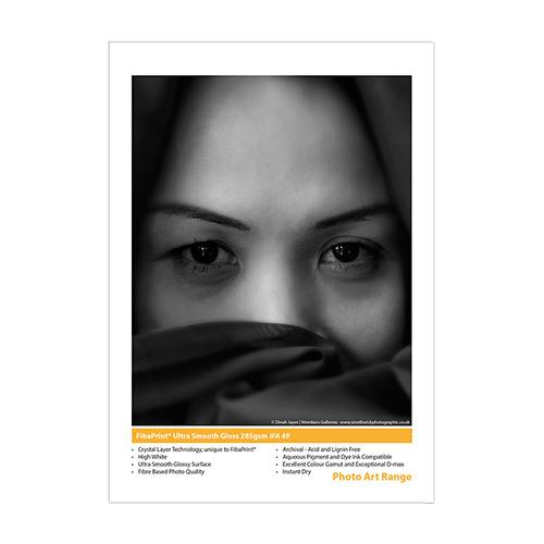 Innova FibaPrint Ultra Smooth Gloss Paper Sheets - 285gsm - A4 x 50 sheets - IFA-49-A4-50