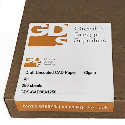 GDS Draft Inkjet CAD Paper Cut Sheets 80gsm A1 x 250 cut sheets Boxed