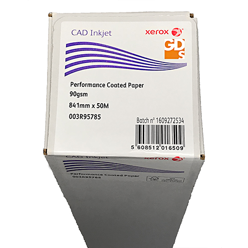 "Xerox Performance Coated CAD Inkjet Plotter Paper Roll | 90gsm | 33.1"" inch 