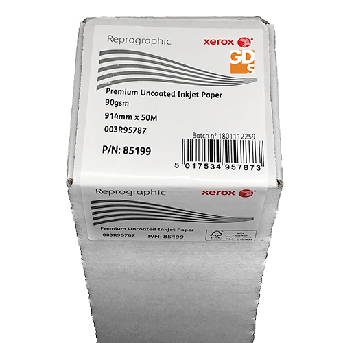 """Xerox Premium Uncoated CAD Inkjet Plotter Paper Roll 