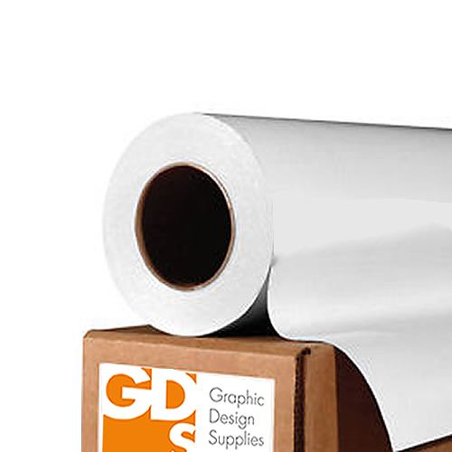 "GDS Self Adhesive Water Resistant Matt Power Paper Roll 140gsm (240gsm with backing) 42"" inch 1067mm x 20mt"