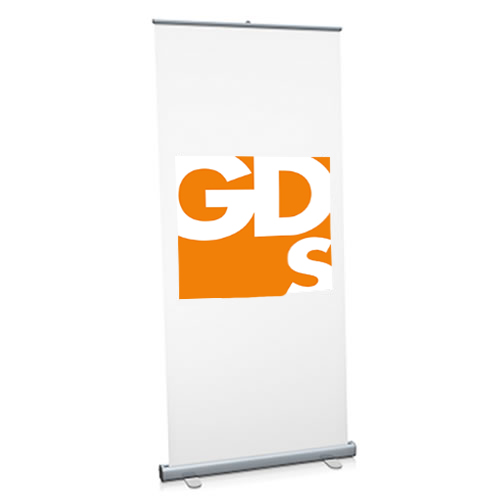 Use HP Everyday Matt White Polypropylene Film Rolls to print low cost roller banners on your wide format inkjet printer