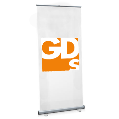 Example Roller Banner - use this media roll to print vibrant non-curl banners on your wide format printer