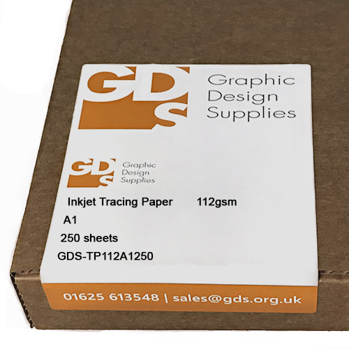 GDS Heavyweight Inkjet Tracing Paper Sheets 112gsm A1 x 250 sheets - Boxed