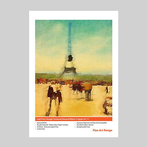 Innova Cold Press Rough Textured Paper Sheets - 315gsm - A3+ x 50 sheets - IFA-13-A3+-50