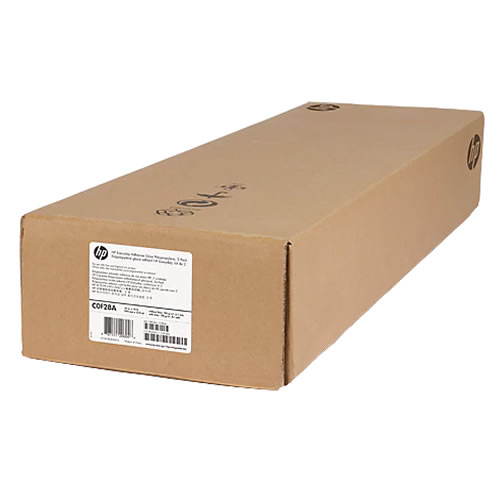 """HP Everyday Self Adhesive Gloss White Polypropylene Film Rolls   168gsm   36"""" inch   A0+   914mm x 22.9mt   Twin Pack   C0F28A"""