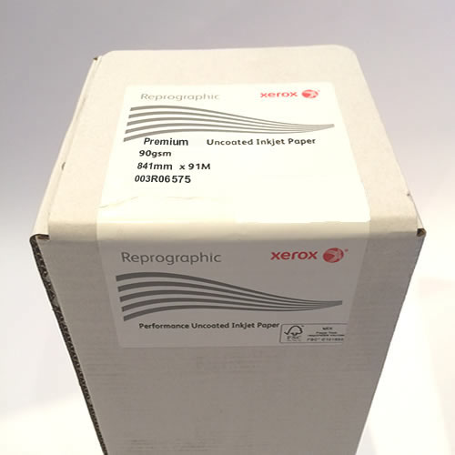 """erox Premium Uncoated CAD Inkjet Plotter Paper Roll 