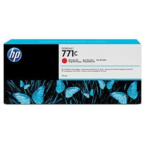 HP 771C Ink Cartridge - Chromatic Red - 775ml - for Z6200 & Z6600 & Z6800 Printers - B6Y08A