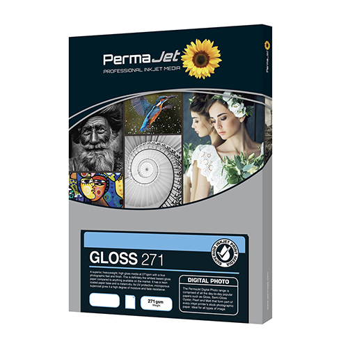 PermaJet Gloss 271 Digital Photo Paper Sheets - 271gsm - A4 x 25 sheets - 50812