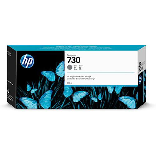 HP 730 Ink Cartridge - Grey - 300ml - for HP DesignJet T1700 Printers - P2V72A