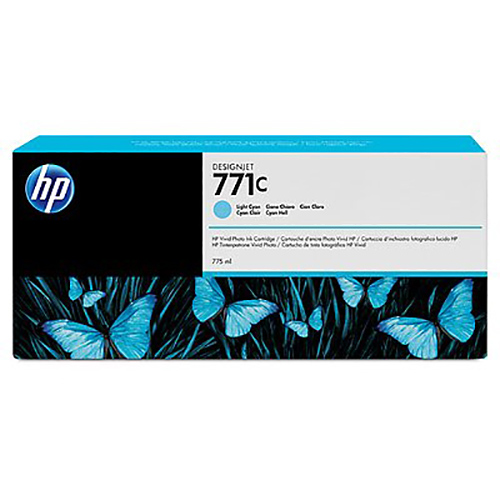 HP 771C Ink Cartridge - Light Cyan - 775ml - for Z6200 & Z6600 & Z6800 Printers - B6Y12A
