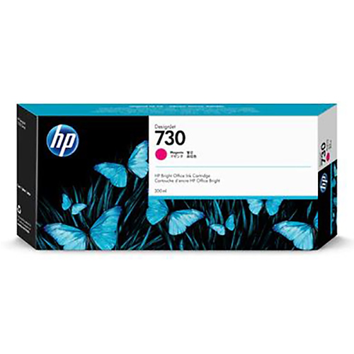 HP 730 Ink Cartridge - Magenta - 300ml - for HP DesignJet T1700 Printers - P2V69A