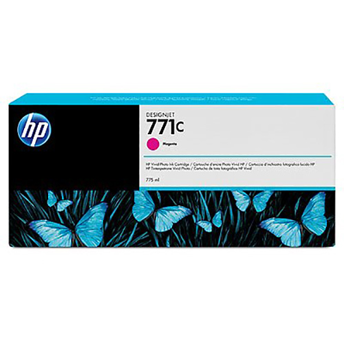 HP 771C Ink Cartridge - Magenta - 775ml - for Z6200 & Z6600 & Z6800 Printers - B6Y09A