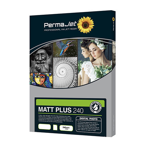 PermaJet Matt Plus 240 Digital Photo Paper Sheets - 240gsm - A4 x 25 sheets - 51112