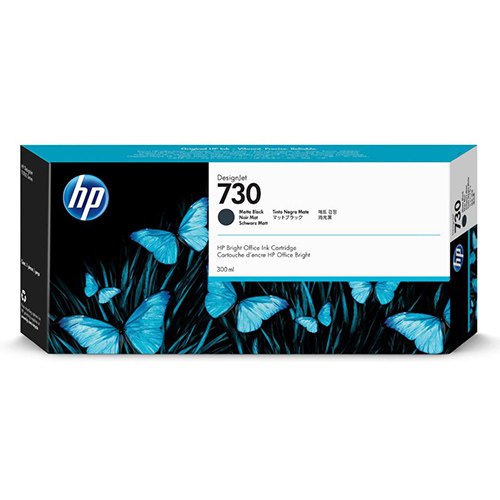 HP 730 Ink Cartridge - Matte Black - 300ml - for HP DesignJet T1700 Printers - P2V71A