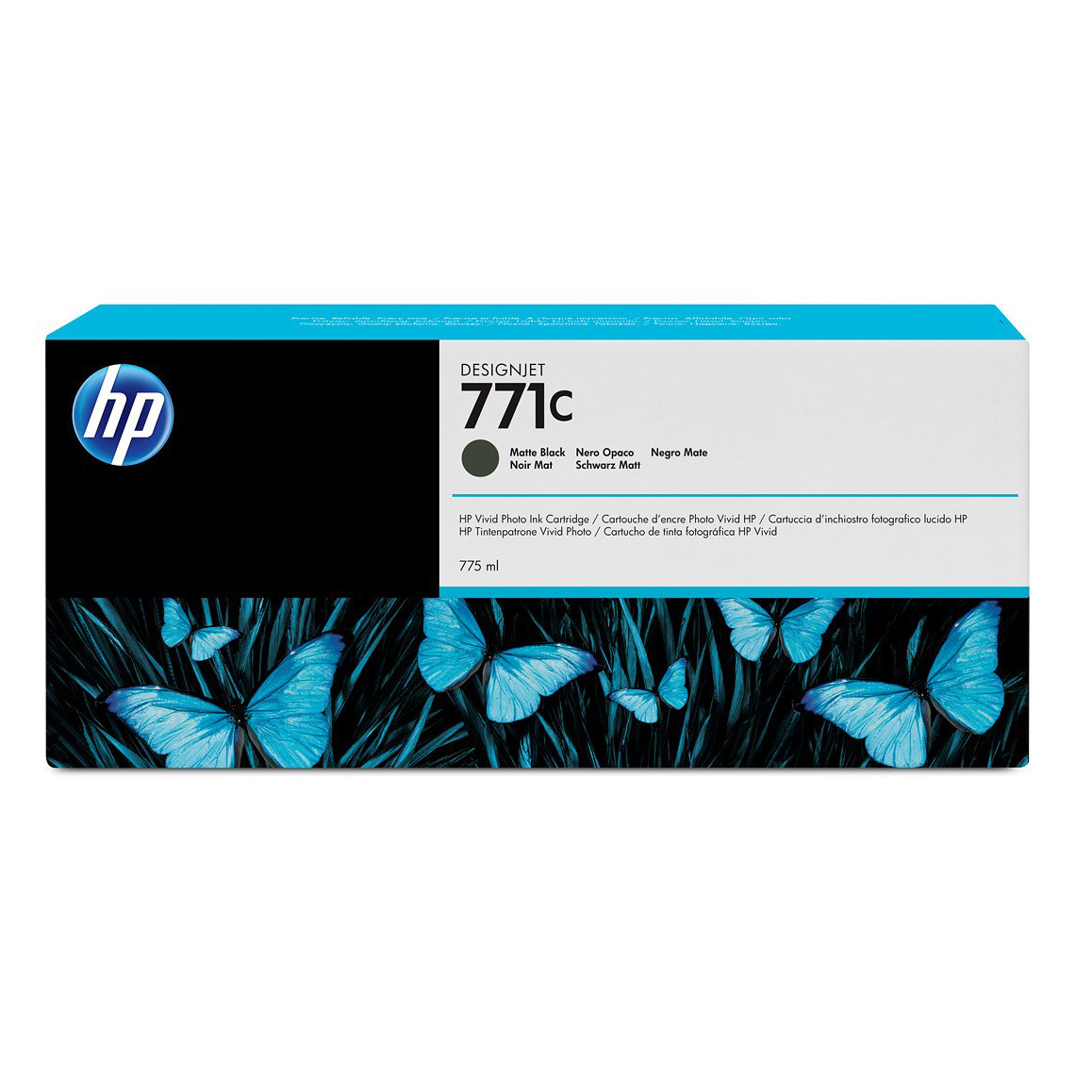 HP 771C Ink Cartridge - Matte Black - 775ml - for Z6200 & Z6600 & Z6800 Printers - B6Y07A