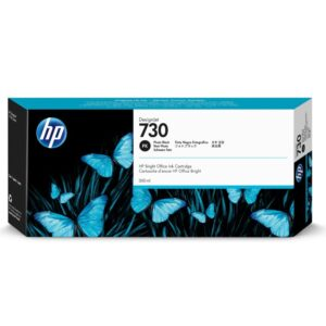 HP 730 Ink Cartridge - Photo Black - 300ml - for HP DesignJet T1700 Printers - P2V73A
