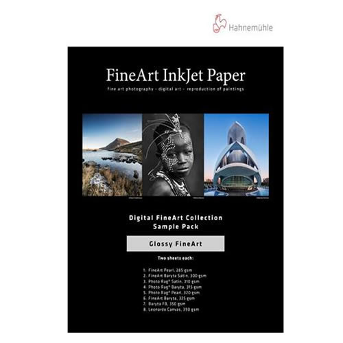 Hahnemühle Digital Inkjet Fine Art Paper | Media Test Pack | Glossy | 14 Sheets | 10640304