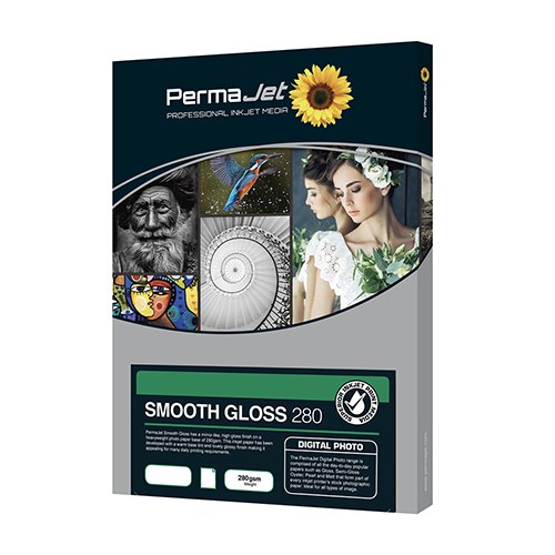 PermaJet Smooth Gloss 280 Digital Photo Paper Sheets - 280gsm - A3 x 500 sheets - 50529