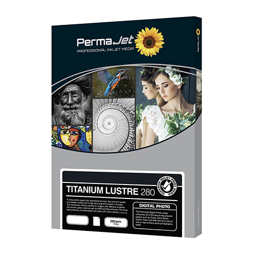 PermaJet Titanium Lustre 280 Metallic Digital Photo Paper Sheets - 280gsm - A3+ x 25 sheets - APJ25032