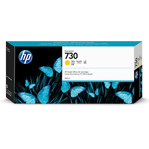 HP 730 Ink Cartridge - Yellow - 300ml - for HP DesignJet T1700 Printers - P2V70A