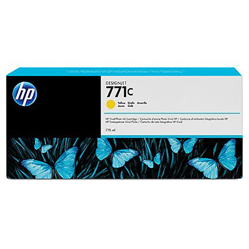 HP 771C Ink Cartridge - Yellow - 775ml - for Z6200 & Z6600 & Z6800 Printers - B6Y10A