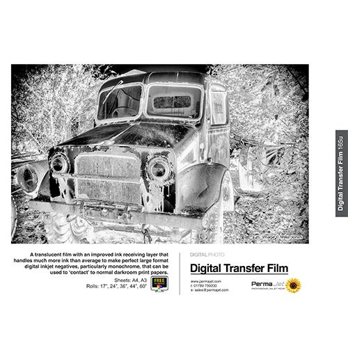"""PermaJet Digital Negative Transfer Film 165 - 165µ Roll - 44"""" inch - 1118mm x 30mt - APJ52198"""