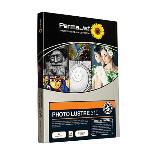 PermaJet Photo Lustre 310 Digital Photo Paper Sheets - 310gsm - A3 x 50 sheets - APJ22024