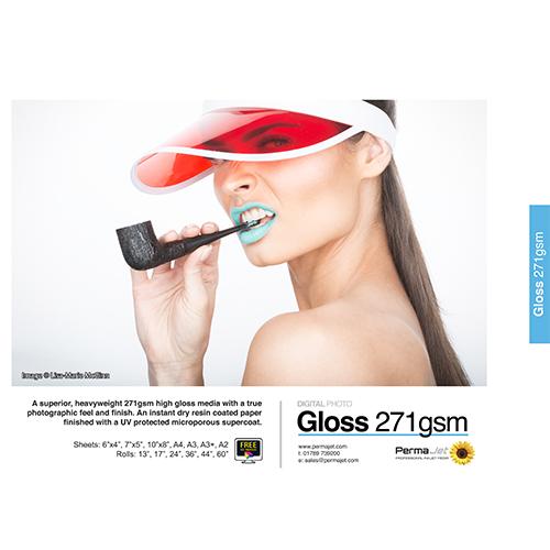 PermaJet Gloss 271 Digital Photo Paper Sheets - 271gsm - A4 x 250 sheets - APJ50817