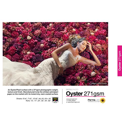 "PermaJet Oyster 271 Digital Photo Paper Roll - 271gsm - 13"" inch - 330mm x 10mt - APJ50949"