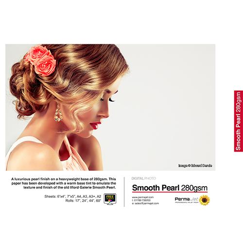 PermaJet Smooth Pearl 280 Digital Photo Paper Sheets - 280gsm - A3 x 50 sheets - APJ50724