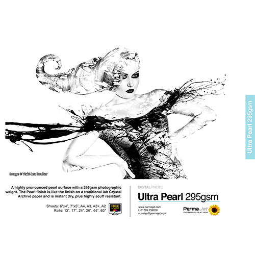 PermaJet Ultra Pearl 295 Digital Photo Paper Sheets - 295gsm - A4 x 100 sheets - APJ51015