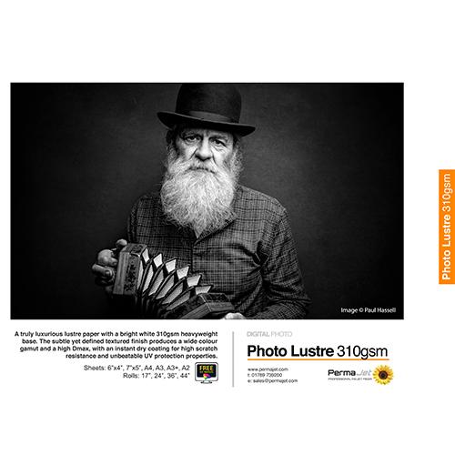 PermaJet Photo Lustre 310 Digital Photo Paper Sheets - 310gsm - A4 x 25 sheets - APJ22012