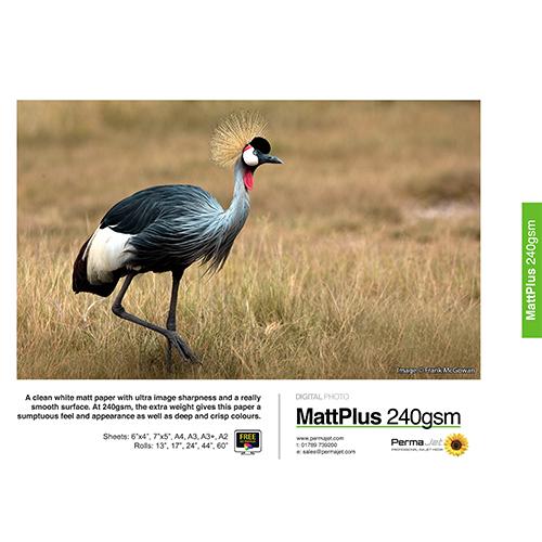 """PermaJet Matt Plus 240 Digital Photo Paper Roll - 240gsm - 60"""" inch - 1524mm x 30mt - APJ51199"""