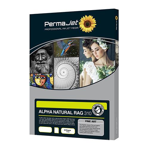 PermaJet Alpha Natural Rag 310 Paper Sheets - 310gsm - A4 x 25 sheets - APJ21813